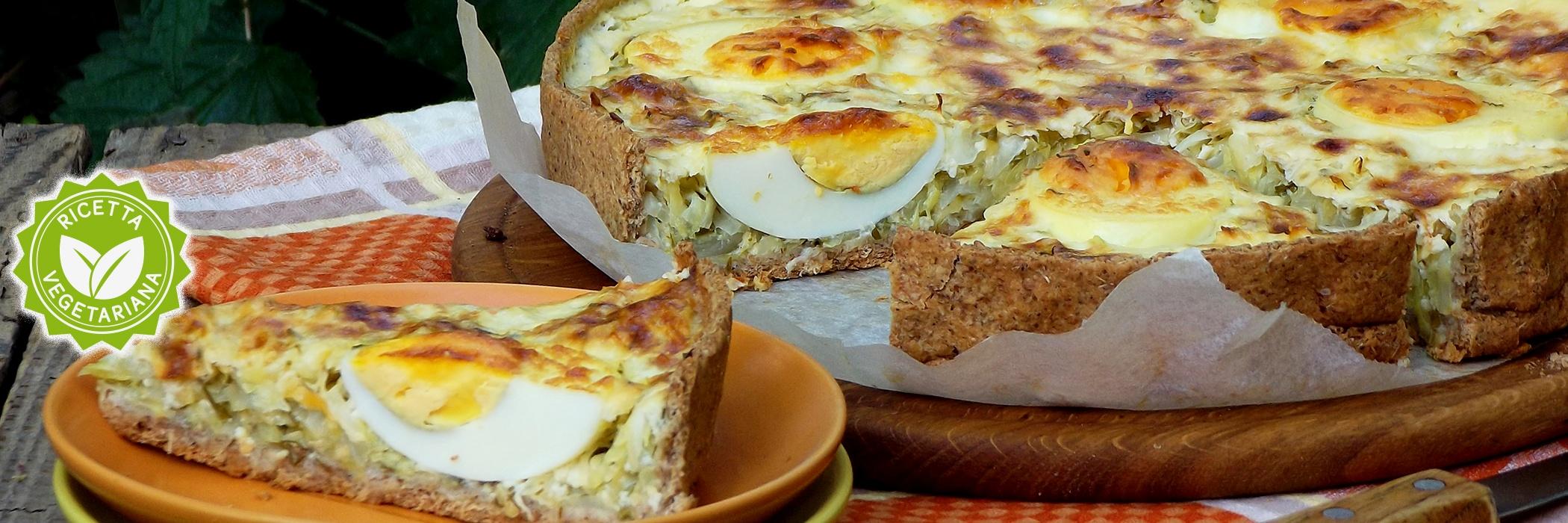 Torta salata con uova sode
