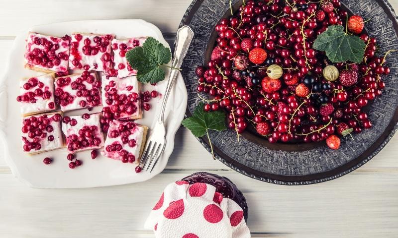 Torta allo yogurt e ciliegie