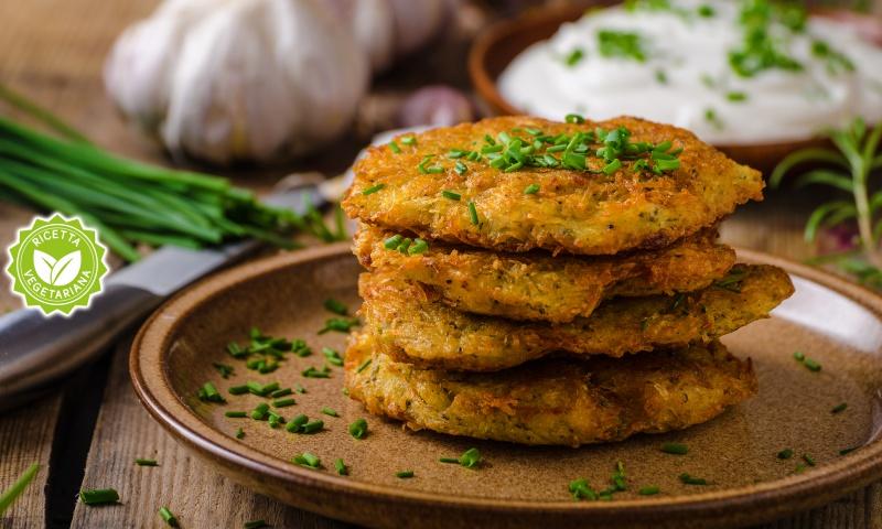 Pancakes di patate e maggiorana
