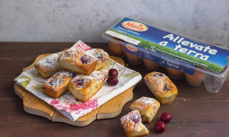 Mini plumcake di ciliegie