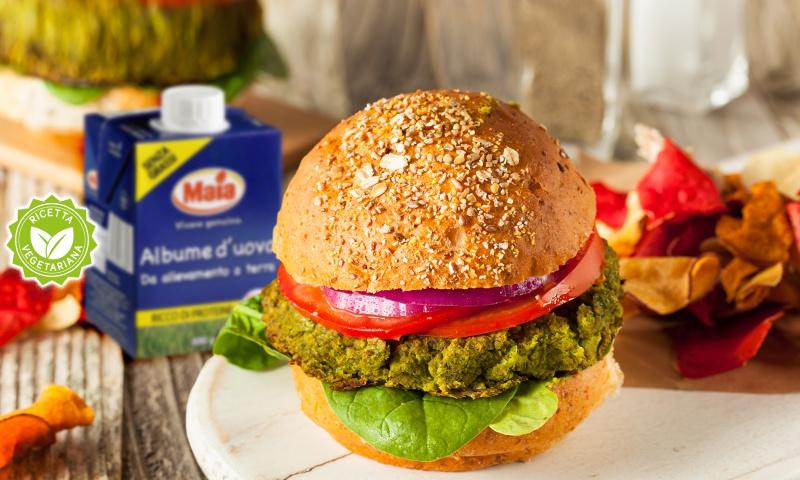 veggie burger quinoa spinaci e albume